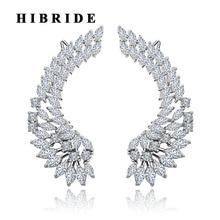 Hiневесты роскошные женские серьги с крыльями ангела модные украшения свадебные подарки Brincos E-378