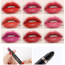 Creative Double Head Long Lasting Lipstick Waterproof Matte Gloss Lip Liner 9 Colors cosmetics maquillage Gift Dropshipping