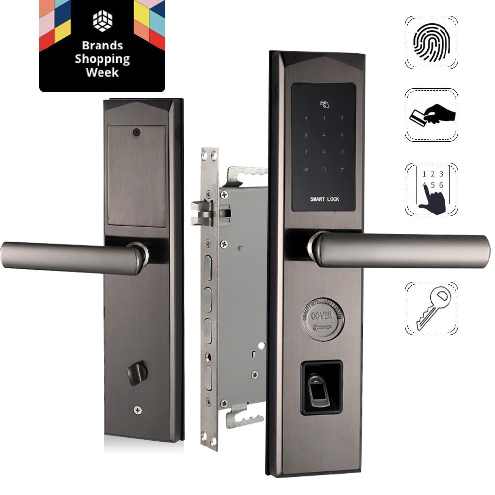 Digital Fingerprint Door Lock Keyless Smart Entry Anti Theft Lock
