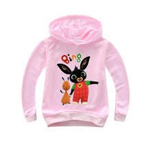 Spring 2019 Cartoon Rabbit Bing Bunny Hoodie For Girl Children Funny Toddler Boy Shirts Girls Tops Casual Cute Clothes