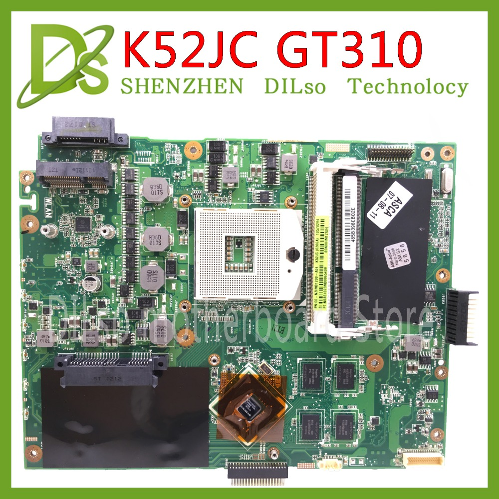 цена на KEFU K52JC for ASUS K52JC K52JR K52JT K52J mainboard REV2.0 motherboard K52JC GT310M 1GB motherboard integrated 100% Test work