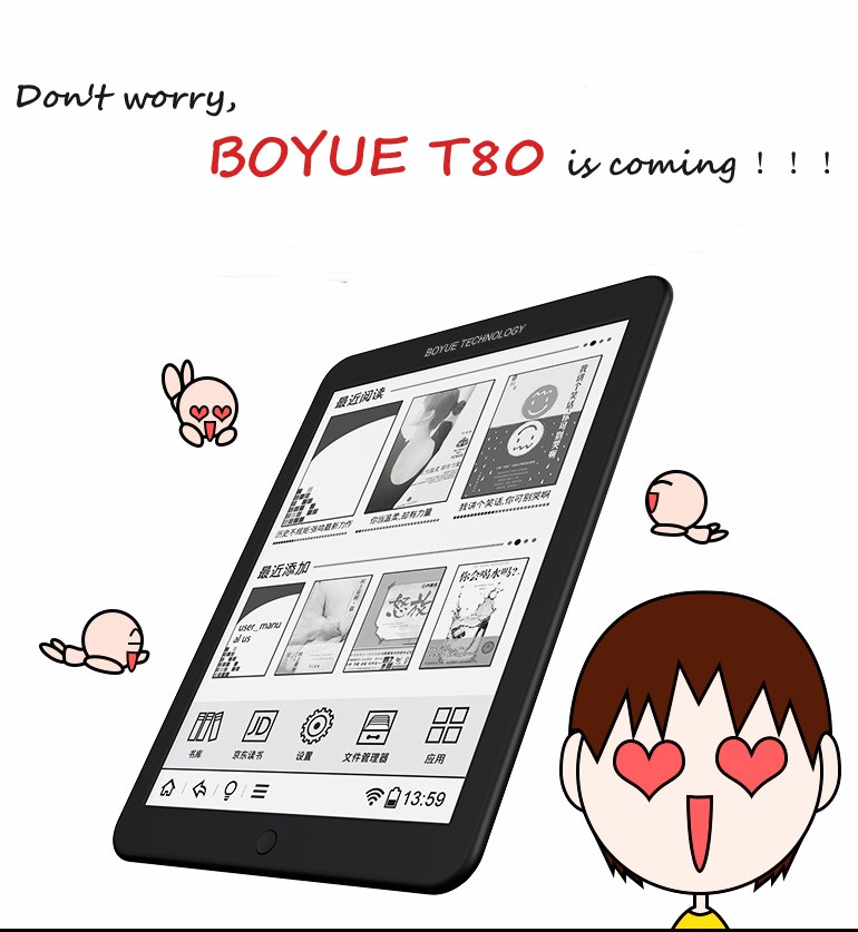 New BOYUE T80 ebook 8 E-ink  front light touch screen 8G  Android 4.2.2 e-book multilingual WIFI e book free shipping hot sale brand new wexler flex one fb2 russian flexible eink screen e book reader ebook ink e ink book 110g 8gb 1024x768 pixels