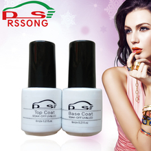 Professional Nail Art UV Nail Gel Base Coat Top Coat Gel Nail Polish Soak off Long Lasting New Bright Color