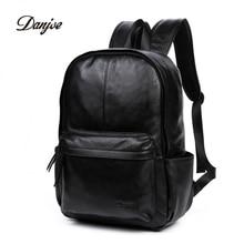 DANJUE Genuine Leather Men Backpack Large Capacity Man Travel Bags High Quality Trendy Business Bag For Man Leisure Laptop Bag