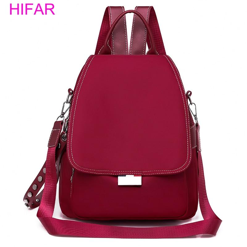 HIFAR Brand Fashion Oxford Backpack Women School Bags For Teenager Girls Designer Female Travel Back Pack 2018