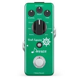 Donner reverb pedal de guitarra verbo quadrado 7 modos reverberação pedais efeito digital true bypass guitarra acessórios