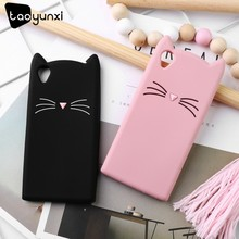 TAOYUNXI Cute Beard Cat Case For Sony Xperia XA1 Ultra L1 L2 E6 XA1 G3223 G3212 G3312 G3313 H3311 TPU Cases Cover(China)