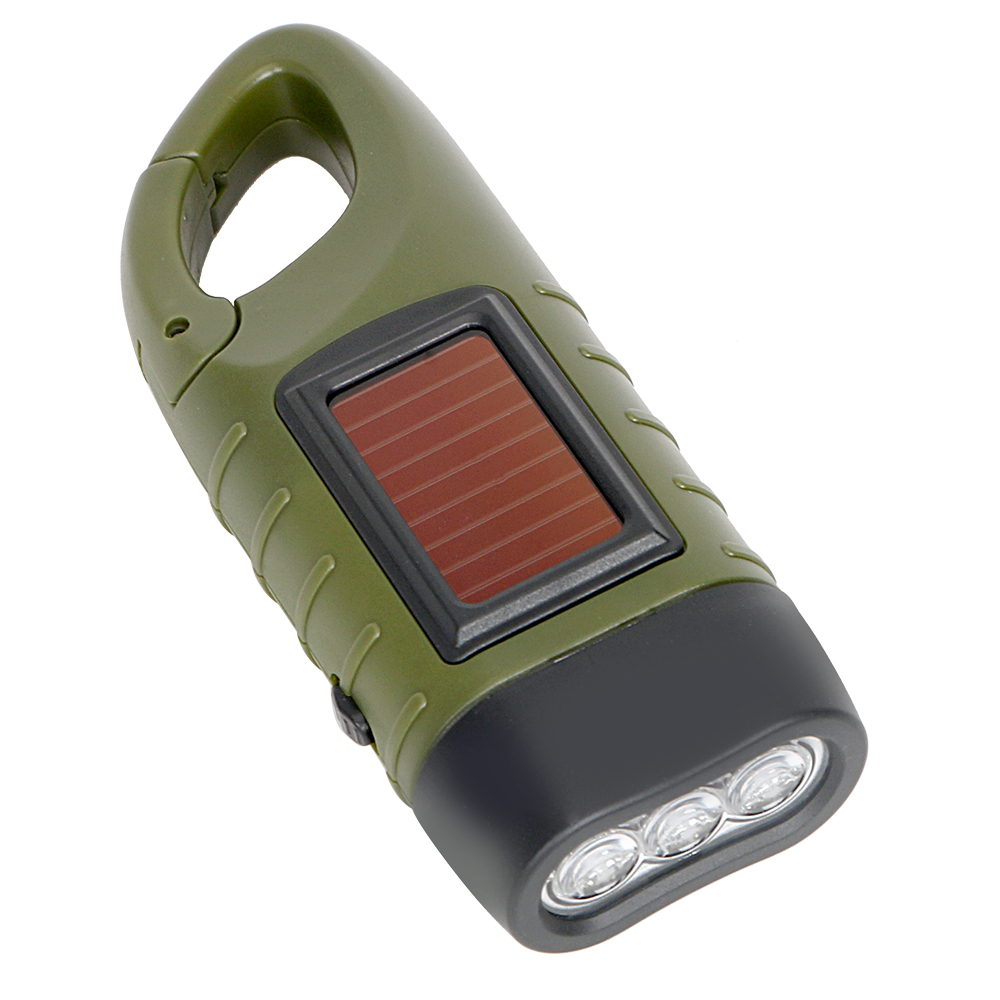GreatWall Plastic Torch Wind Up Hand Press Rechargeable Torch 3 LED Camp Flashlight Small Red Casinò e attrezzature