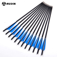 17 20 22 Inches Crossbow Arrows Carbon Arrow With 125 Grain Broadheads For Archery Shooting