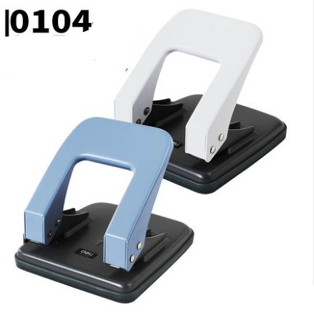 DELI 0104 Hole Punch Double Hole Craft Paper Punch Scrapbook Punches  Circle Cutter office supplies