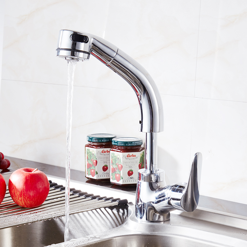 FLG Flexible Pull Out Basin Faucet Special Designed For Washing Face ...