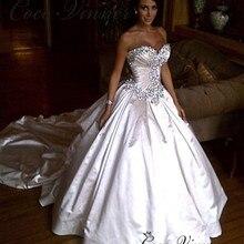 С открытыми плечами Qualtiy Атласное Бальное Платье Свадебное платье свадебное платье доска с возможностью вытирания насухо Европа стильные свадебные платья W0345