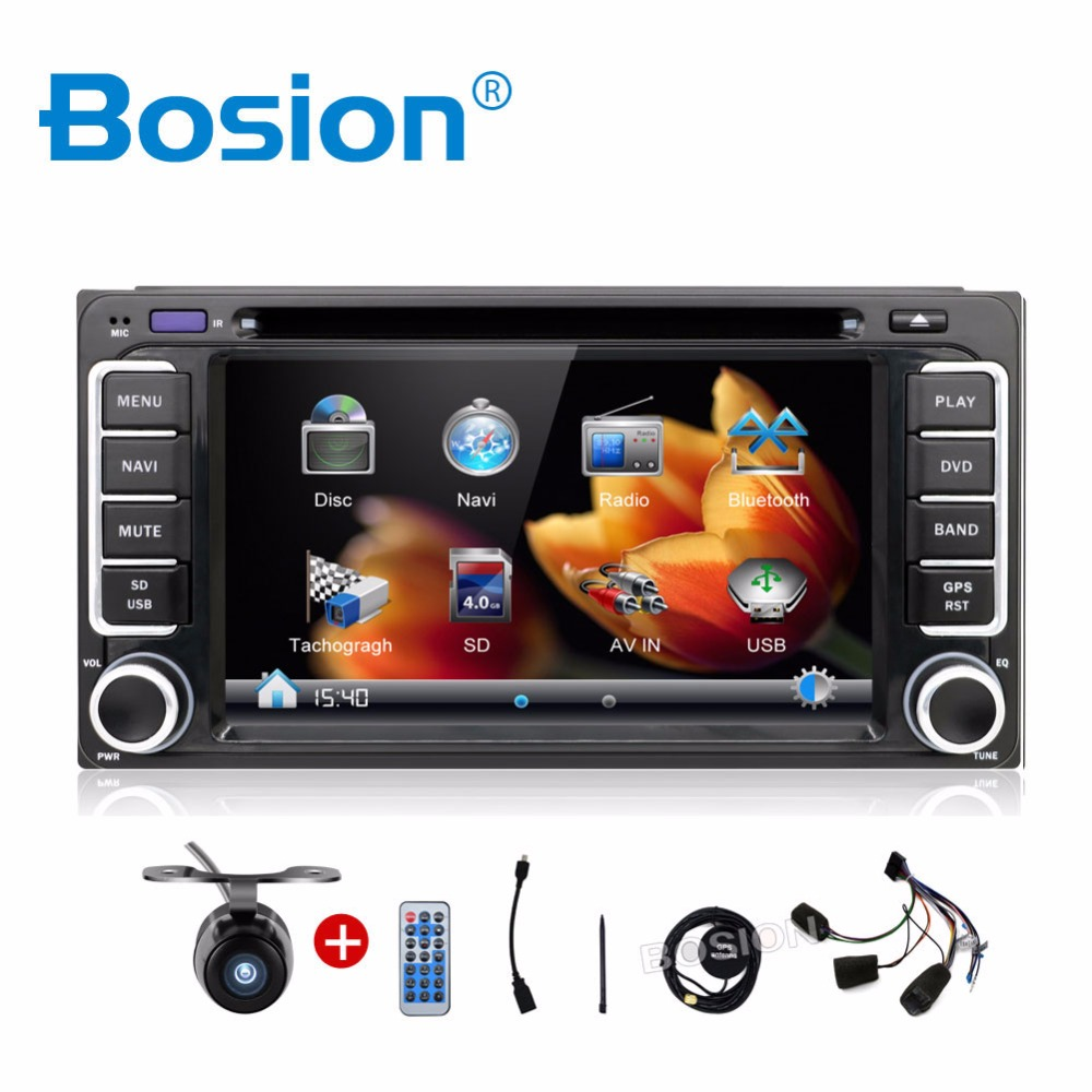 For Toyota 2 Din 62 In Dash Car Dvd Player Gps Radio Fm Usb Sd Dual Cd Wire Harness Audio Stereo Power Plug Rca Bluetooth Hd Digital Touch Screen Full Popular Function Free
