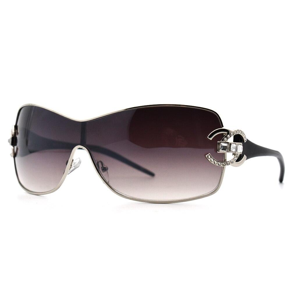 Moda 2019 de Diamante De Cristal óculos de Sol Tons Oversize Senhoras Dos Homens Das Mulheres Ao Ar Livre Óculos de Sol Espelho Gradiente zonnebril dames Topo