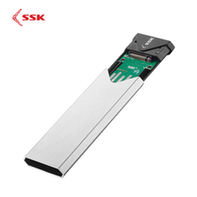 SSK Aluminium Alloy M.2 SSD HDD Enclosure Type-C Mobile Hard Disk Case M.2(NGFF) SATA NVMe Interface SSD 2242/2260/2280 HDD Case цена и фото