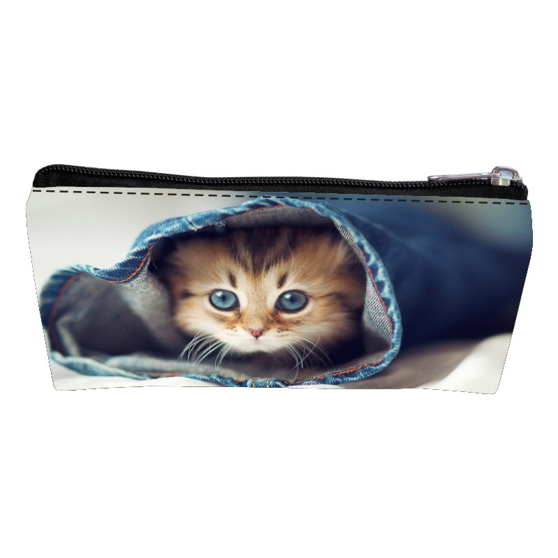 New Arrivals Oxford Printing Animal Cat Kids Baby Key Wallet Women Coin Purses Children Change Purse Girls Pen Bags for Teenage