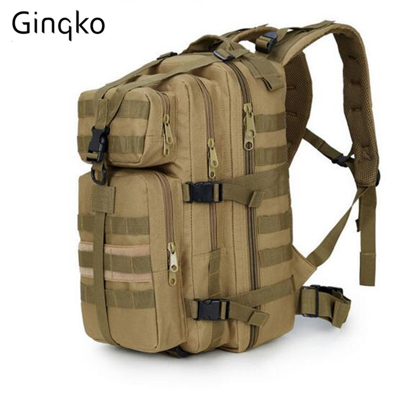 Ginko Outdoor 3P Military Army SWAT Tactical Molle Backpack Camping Hiking Trekking Sport Camouflage Bag Large Travel Backpack qg0784 men women outdoor military army tactical canvas backpack camping hiking trekking sport bag large capacity backpack