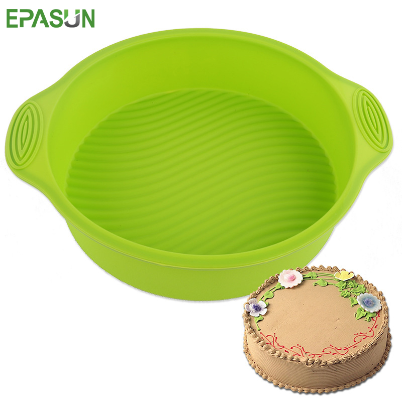 EPASUN 10inch Round Silicone Cake Form Tools Bakeware Form for Baking Dish Maker Mold Tray Baking Mould Cupcake Pan Kitchen Tool