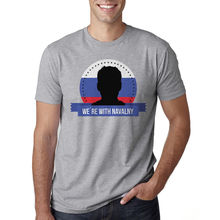 ФОТО russia with navalny men's heather grey t-shirt new sizes s-3xl summer short sleeves t shirt fashion original tops novelty