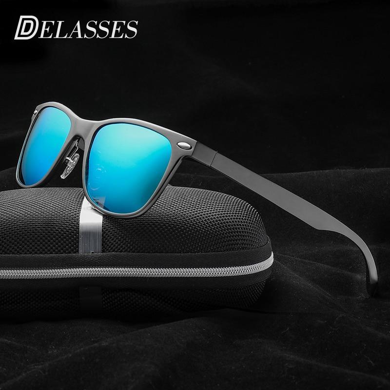 DELASSES Brand Designer Vintage Rivet Aluminum Magnesium Men Women Polarized  Sunglasses Super Light UV400 Eyewear oculos de sol-in Sunglasses from  Apparel ... 318dedc0ac