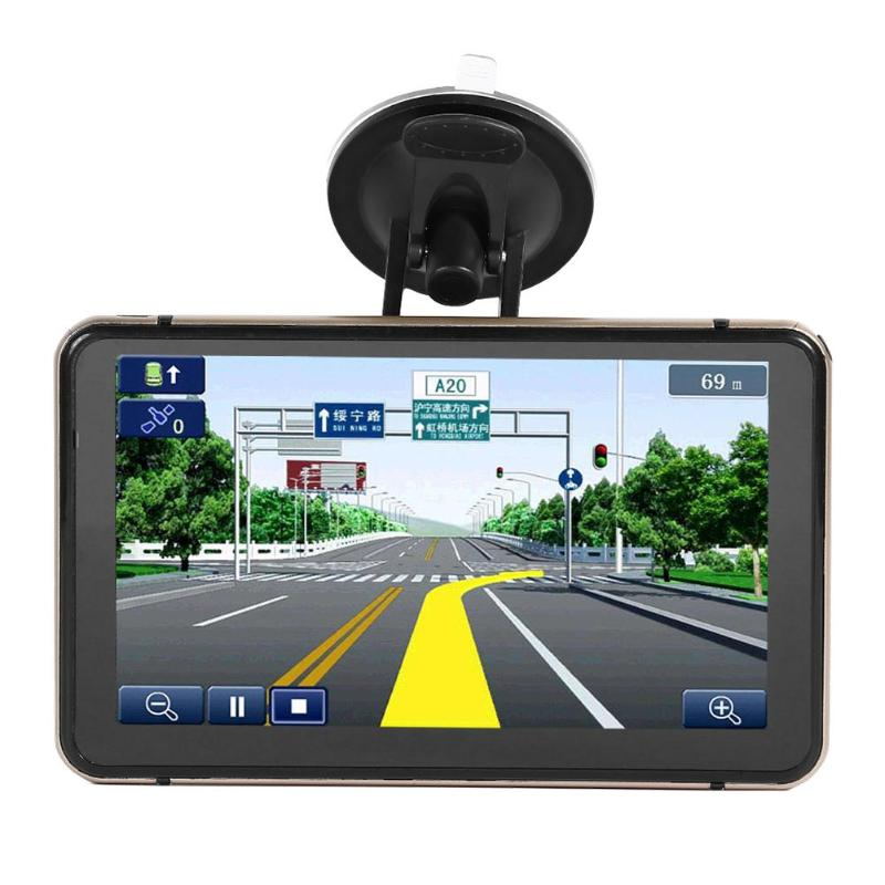 7 pouces Android GPS Navigation voiture DVR caméra Sat Nav Bluetooth WiFi AV-IN carte Sat nav camion GPS navigateurs Automobile