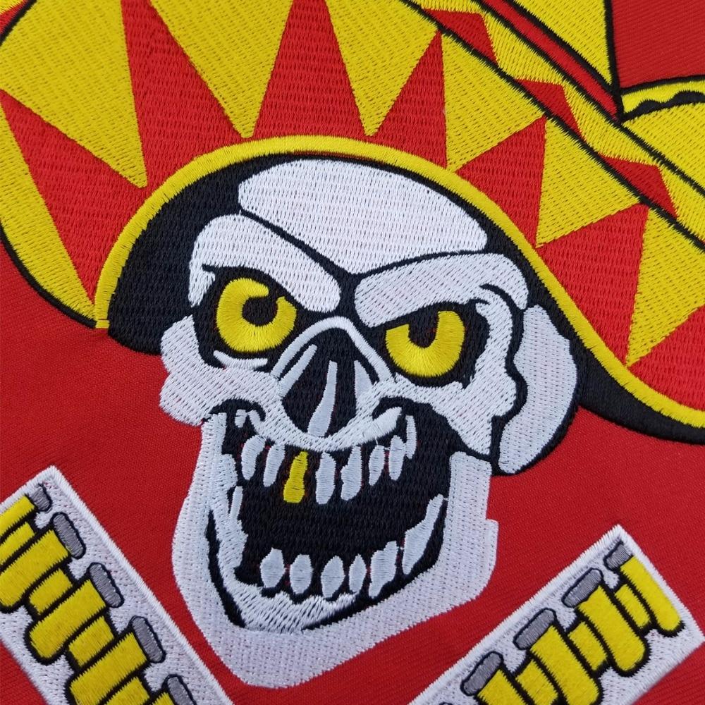L171213-3 HOT SALE PELIGROSOS DENVER RED COWBOY WITH GUN MOTORCYCLE CLUB VEST OUTLAW BIKER MC JACKET PUNK LARGE BACK IRON ON WEST PATCH (4)