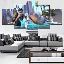 5 Pieces Unique Overwatch Symmetra Modern Home Decorative Wall Canvas Picture Art HD Print Game Painting On Artworks