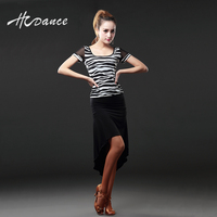 HCDance Latin Dance Costumes The New Ball Dress With Short Sleeves Female Adult Dance Skirt SuitsA103