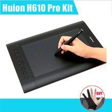 """Huion h610 pro sanat grafik çizim tablet 10 """"x 6.25"""" mac ve windows için şarj edilebilir dijital kalem ile"""