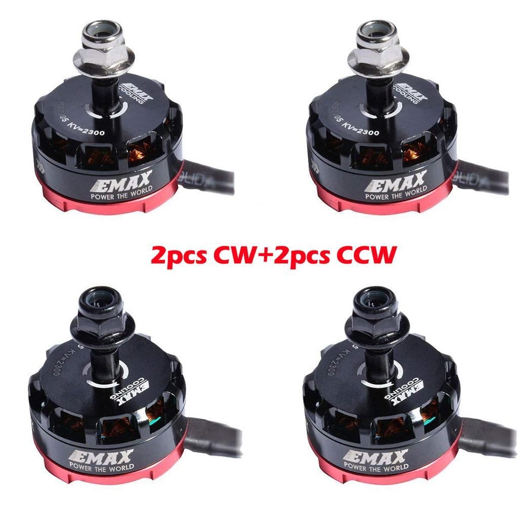 4 pcs EMAX RS2205 2300KV moteur sans brosse 2CW 2CCW pour QAV250 FPV course Drone pièces accessoires jouets pour enfants