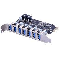 Multi Model USB Expander Card PCI E To 7 USB3 0 PCI Express Expansion Card Super