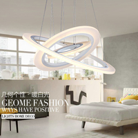 Stylish Simplicity Suspension LED Chandelier 3 Laps Personality DIY Acrylic Chandelier For Dinning Room AC110V 220V
