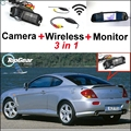 3 in1 Special Rear View Camera + Wireless Receiver + Mirror Monitor Back Up Parking System For Hyundai Coupe S3 Tuscani Tiburon