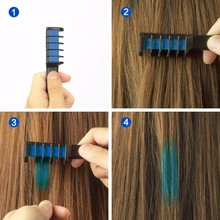 Wholesale Professional 6 Colors Mini Disposable Personal Salon Use Temporary Hair Dye Comb Crayons Hair Dyeing Tool TSLM2
