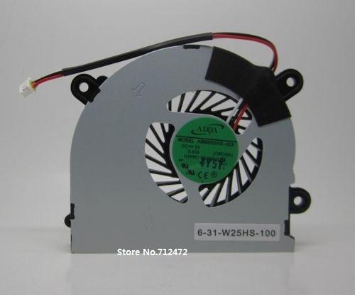 SSEA MSI S6000 X600 үшін жаңа CPU салқындатқыш желдеткіші CLEVO C4500 ноутбук CPU желдеткіші үшін AB6605HX-J03 CWC45X 6-31-W25HS-100