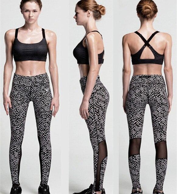 1361eb26ce Yoga Pants Women Leggings Running Sports Jogging Tights Yoga Fitness Workout  Pants Black White Print Dot snowflake Trousers