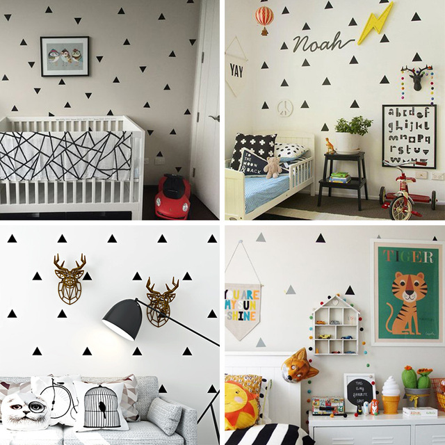 Baby Boy Room Little Triangles Wall Sticker For Kids Decorative Stickers Children Bedroom Nursery Decal 3