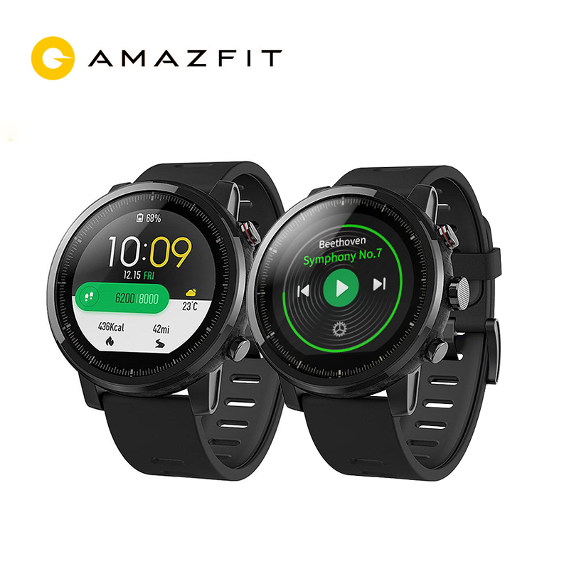 xiaomi mi huami amazfit smart watch stratos 2 english version sports smartwatch with gps ppg heart rate monitor 5atm waterproof English Version Huami Amazfit Stratos Smart Sports Watch 2 GPS 5ATM Water 1.34'' 2.5D Screen GPS Firstbeat Swimming Smartwatch