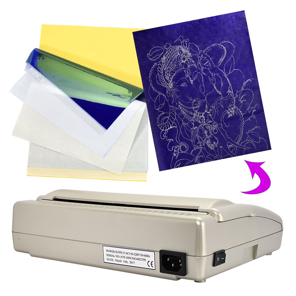 Professional Tattoo Transfer Machine Copier Printer Drawing Thermal Stencil Paper A4 Tattoo Paper And Photo Tattoo Supplies