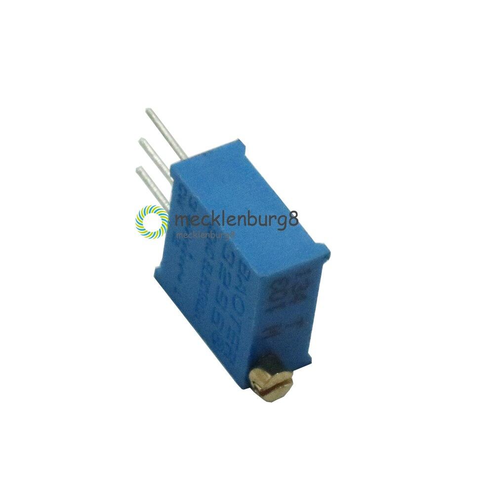"Trimmer 20K ohm Multi Turn 3//8/"" Square PV36X cermet résistance type 3296X x 3pcs"