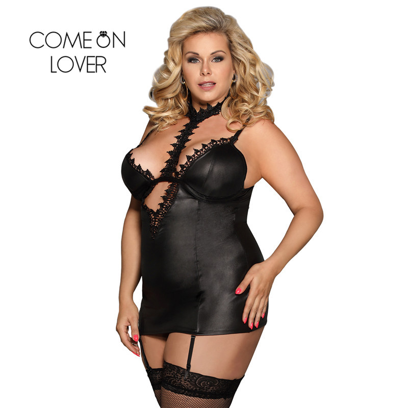 Comeonlover Dessous Sexy Hot Erotic Lace Choker Neck Chemise Porno Babydoll Sexy Plus Size Babydoll Lingerie Sexy RI80662 1
