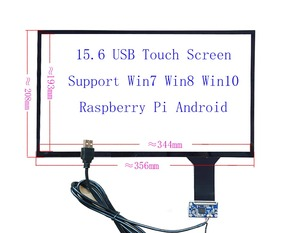 15.6 USB Capacitive Touch Screen Sensor Digitizer 10Fingers Touch Support Raspberry Pi Win7 8 10 ILI2511 Hand Writer Panel(China)
