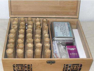 ФОТО Boiled without thumb paint small bamboo tank carbonation tank medicine xie blood bamboo sticks set box of cupping therapy.