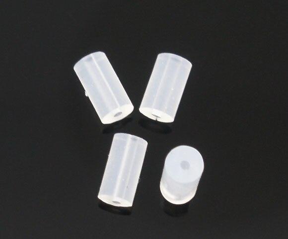 Doreen Box Lovely 1000 Rubber Back Earring Stoppers Findings 4x2mm (B05756)