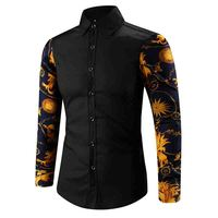 Fashion 2017 Autumn Winter Korean Long Sleeve Male Fight Color Sleeve Youth Casual White Shirt Men