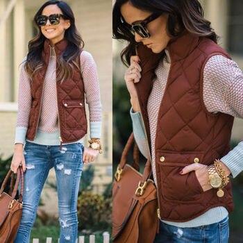 Womens Fashion Winter Warm Jacke Vest Coat Casual Jacket Waistcoat Outwear Hot Sale Zipper