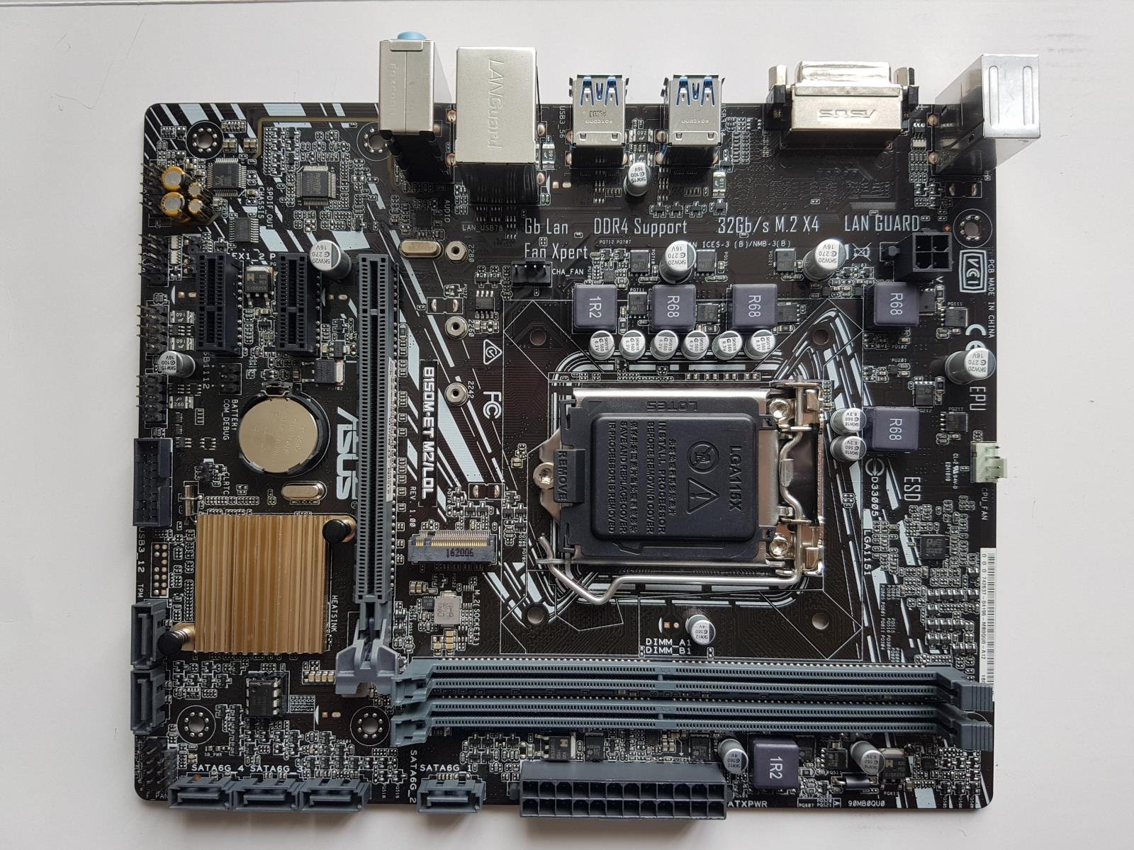 Used,Original ASUS motherboard B150M-ET M2/LOL LGA 1151 DDR4 board 32G for I3 I5 I7 CPU Desktop motherborad,100% tested good цена