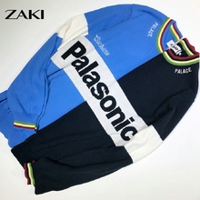 Palace 2016 Fashion pullover Couple men and women Striped Stitching Letter embroidery Knit Hip-Hop Sweater skateboard tops