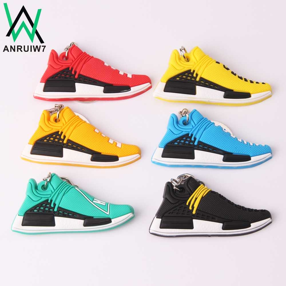 New Mini Silicone PHARRELL Acessórios Presentes Chave Anel Keychain Charme Saco Mulher Sneaker Sapatos Jordan Chaveiro Porte Clef