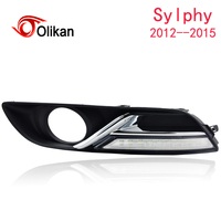Turn Off And Dimming Style Relay LED Car DRL Daytime Running Lights For Nissan Sylphy 2013